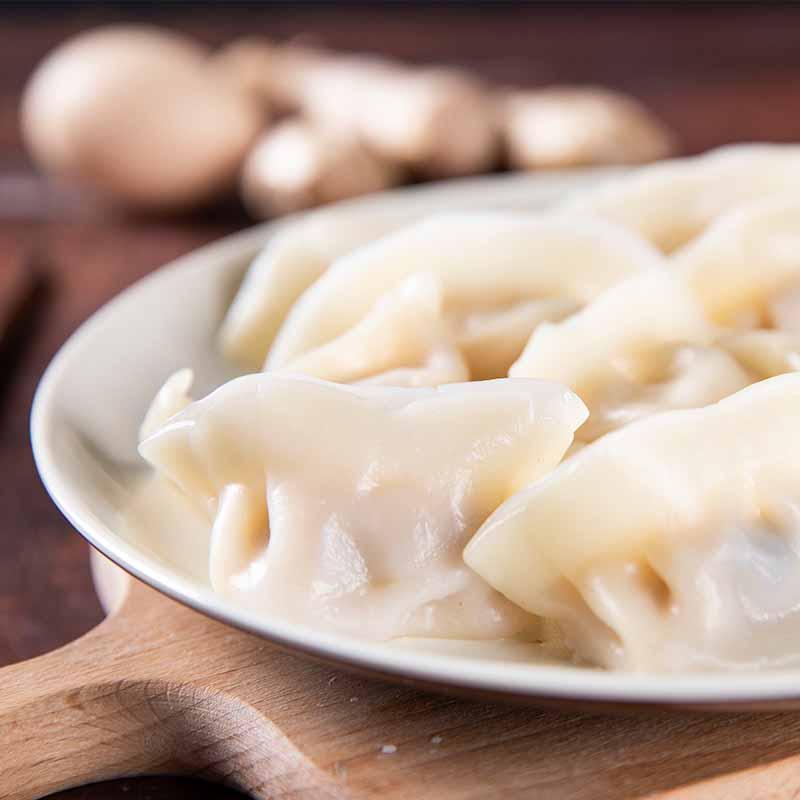 素食熟水餃